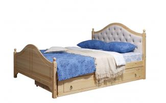 Кровать Кая 2 (мягкая) с ящиками 140