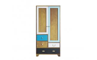 Шкаф Aquarelle двухдверный с ящиками