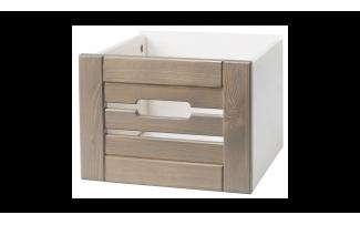 Ящик для шкафа (стеллажа) Бейли белый воск-антрацит