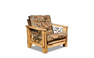 Кресло Викинг 02 с кованными элементами