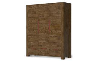 Шкаф Riva 3-х дверный графит