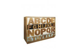Комод Alphabeto Birch темный