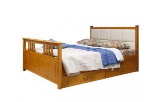 Кровать Дания (мягкая) 3 с ящиками 160