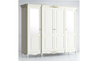 Шкаф 4 двери с 2 зеркальными и 2 глухими дверями Atelier Gold