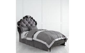 Кровать Nocturne с мягким изголовьем 90*190 серебро
