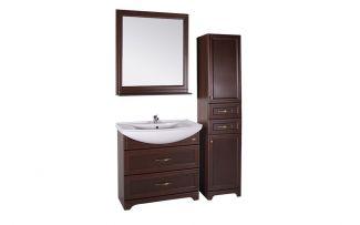 Комплект мебели для ванной Берта 85 Антикварный орех