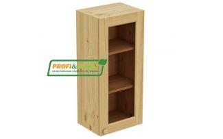 Шкаф настенный 1 дверь 40х90 стекло Profi&Hobby