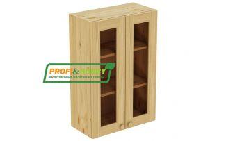 Шкаф настенный 2 двери 60х90 стекло Profi&Hobby