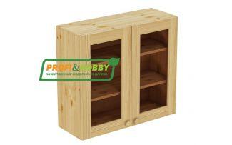 Шкаф настенный 2 двери 80х72 стекло Profi&Hobby