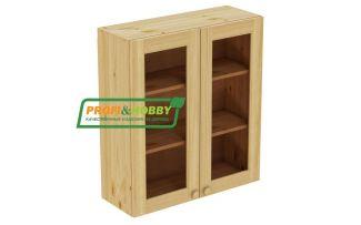 Шкаф настенный 2 двери 80х90 стекло Profi&Hobby