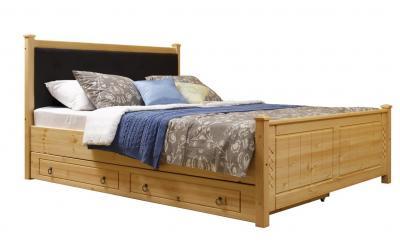 Кровать Дания (мягкая) 1 с ящиками 160