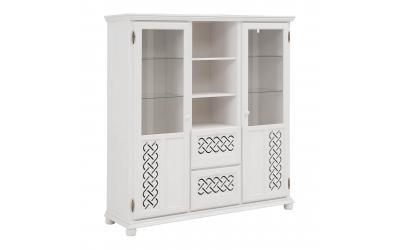 Шкаф для посуды Луна 211 (белый воск УКВ)