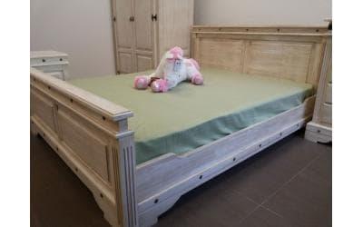 Кровать 2-спальная Викинг 01 160х200 (Браширование)