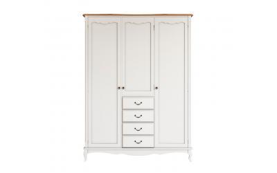 Шкаф для одежды Leontina трехстворчатый 4 ящика ST9327-34