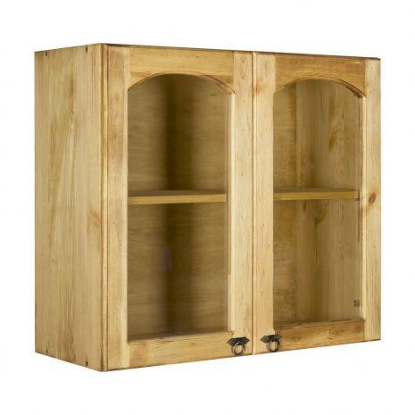 Шкаф настенный с 2 стекл. дверками Викинг GL 80 №32