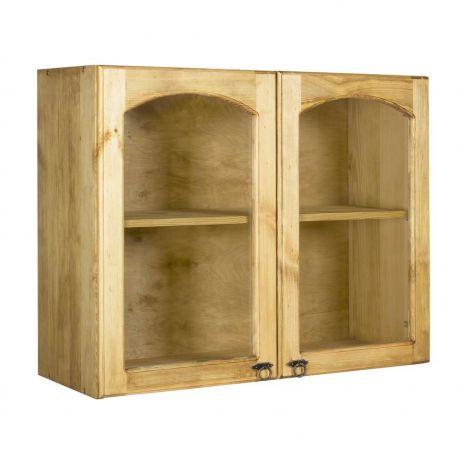 Шкаф настенный с 2 стекл. дверками Викинг GL 90 №24