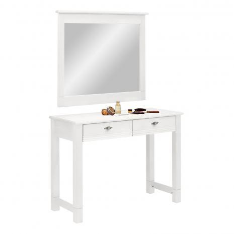 Стол туалетный Рауна с зеркалом белый воск УКВ