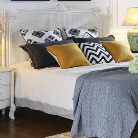 Кровать White Rose 120 Ротанг