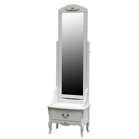 Тумба напольная с зеркалом S06M01 White Rose F6630