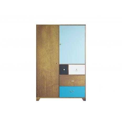 Шкаф Aquarelle двухстворчатый с ящиками