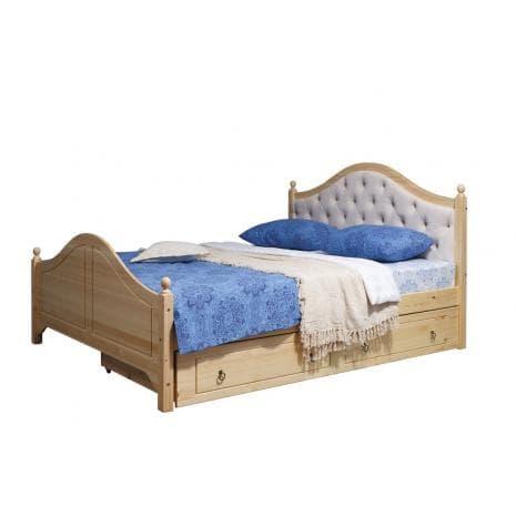 Кровать Кая 2 (мягкая) с ящиками 160