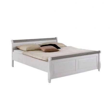 Кровать Мальта без ящиков 140х200 (серый)
