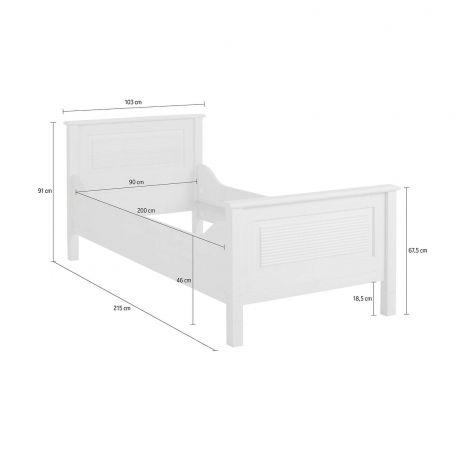 Кровать Рауна J 90x200 (бейц масло)
