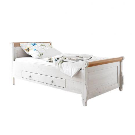 Кровать Мальта 100 с ящиками (антик)