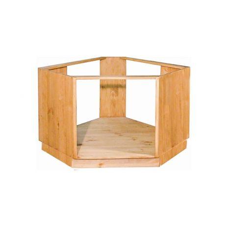 Угловой шкаф-стол ПЛ39 под плиту