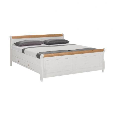Кровать Мальта с ящиками 140х200 (антик)