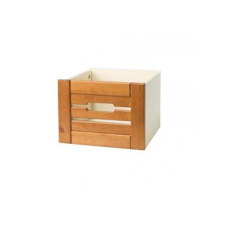 Ящик для шкафа (стеллажа) Бейли белый воск-антик