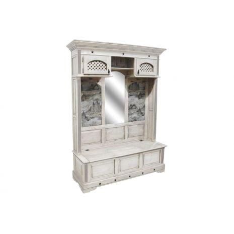 Шкаф комбинированный для прихожей Викинг 04 (Браширование)