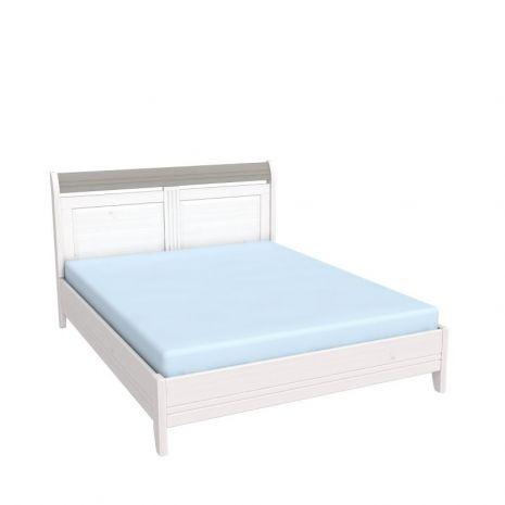 Кровать Бейли без изножья 160х200 белый воск-антрацит