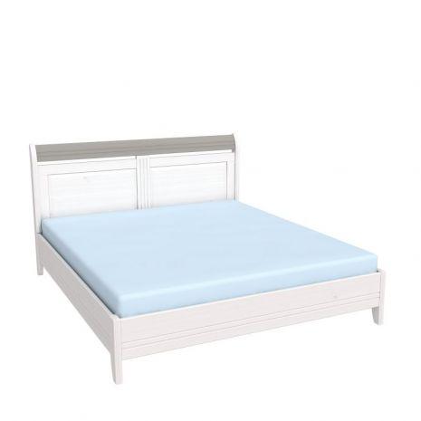 Кровать Бейли без изножья 180х200 белый воск-антрацит