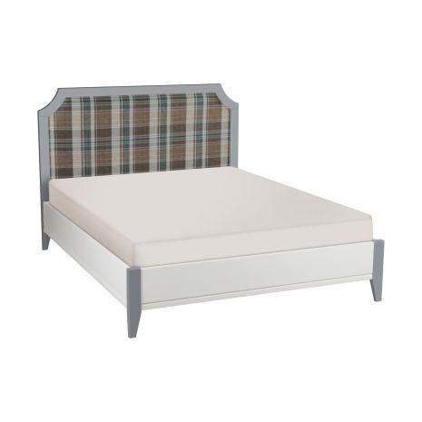 Кровать София мягкая 160х200 белый лак/серый лак