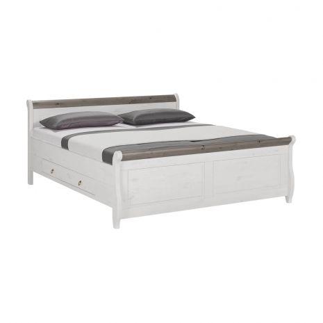 Кровать Мальта с ящиками 180х200 (серый)