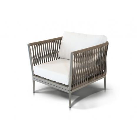Кресло Касабланка Серо-коричневое