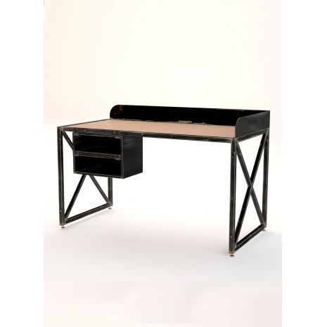 Рабочий стол Industrial черного цвета