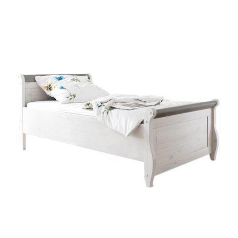 Кровать Мальта 100 без ящиков (серый)