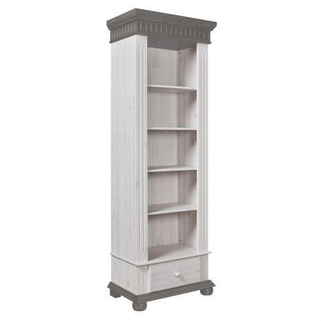 Стеллаж Хельсинки с 1 ящиком (серый)