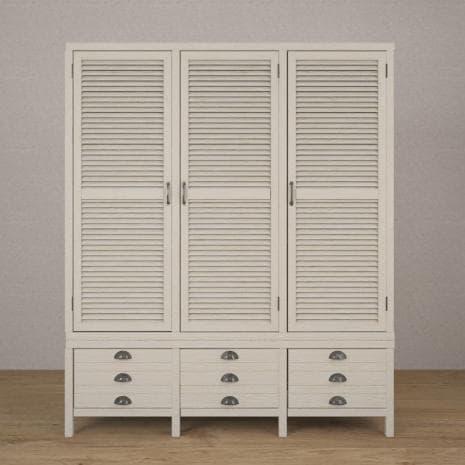 Шкаф 3х створчатый WoodCorner (Белый)
