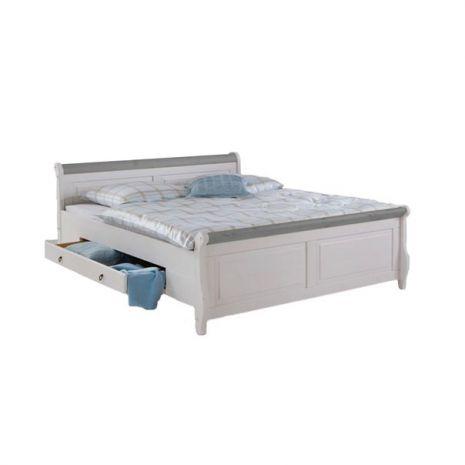 Кровать Мальта с ящиками 140х200 (серый)