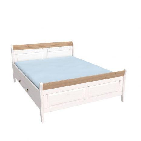 Кровать Бейли с ящиками 160х200 белый воск-антик