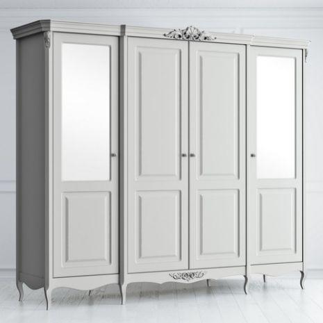 Шкаф 4 двери c 2 зеркальными и 2 глухими дверьми Atelier Home
