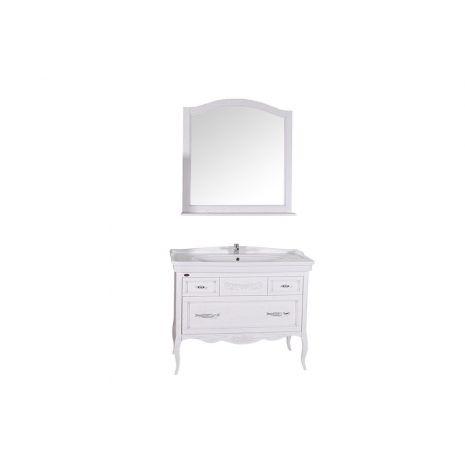 Комплект мебели для ванной Модерн 105 Патина серебро