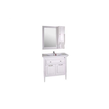Комплект мебели для ванной Гранда 85 Патина серебро