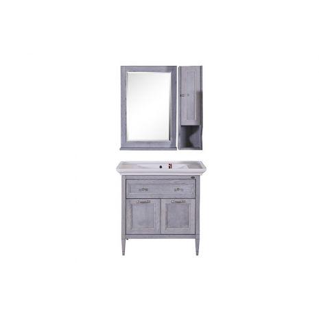Комплект мебели для ванной Гранда 85 Grigio со шкафчиком
