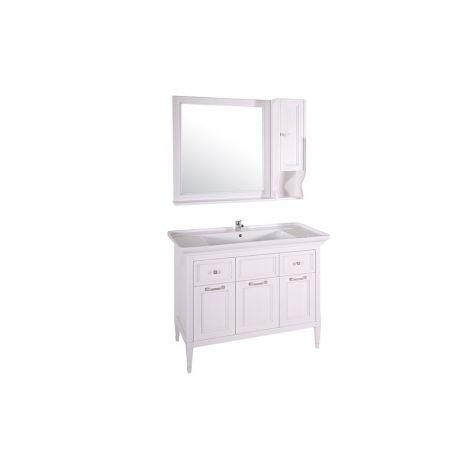 Комплект мебели для ванной Гранда 105 Патина серебро