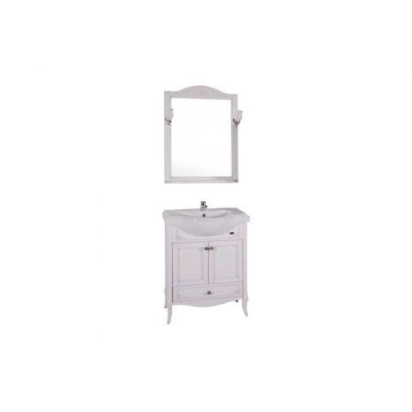 Комплект мебели для ванной Салерно 65 Патина серебро