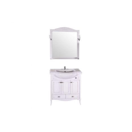 Комплект мебели для ванной Салерно 80 Патина серебро